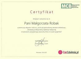 certyfikat malgosia