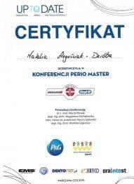 Certyfikat Perio Master
