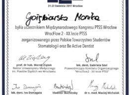 certyfikat-kongres-wroclaw-monika