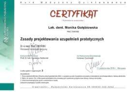 certyfikat-zasady-projektowania-uzupelnien-protetycznych